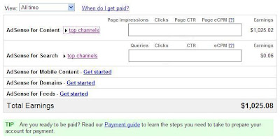 income proof for google adsense