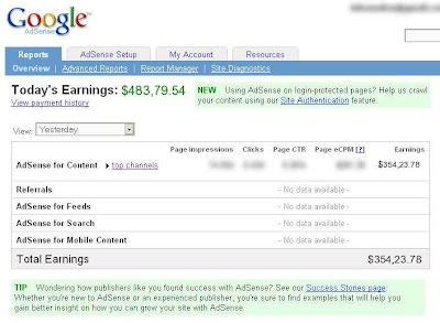 fake adsense earnings