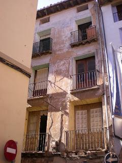 Detalle de casa en calle Gracián de Calatayud