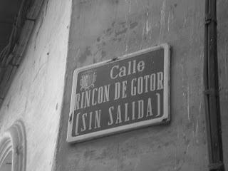 Placa de calle del Rincón de Gotor de Calatayud