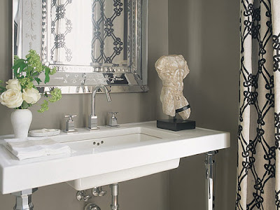 Room Store Houston on Renea Abbott Powder Room In Houston Texas