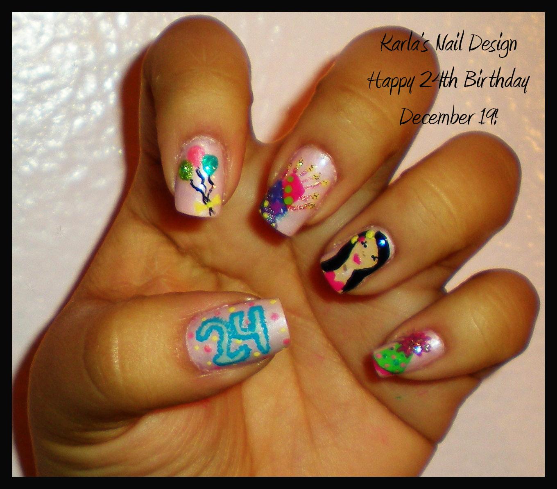 My 24th birthday Nail Design - Originail Kolors: My 24th Birthday Nail Design