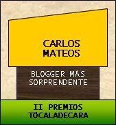 """Premio """"Tócala de cara"""" al blogger más sorprendente"""