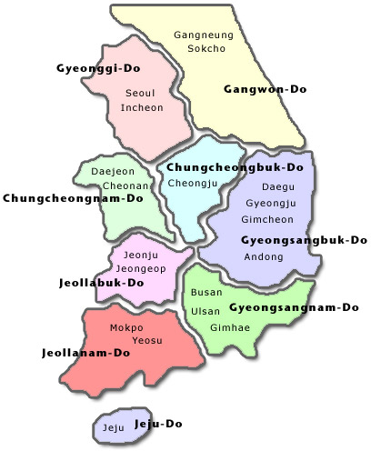 Provinces of Korea