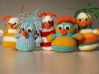 unique handmade toy bird amigurumi gift present kookoo