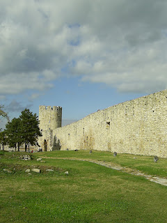 Beograd journey Serbia Travel travelling trip fortress sky blue green grey stone old