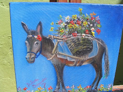 Burrinho carregador de flores