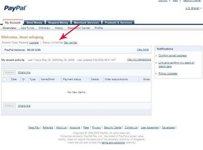 how to create paypal email
