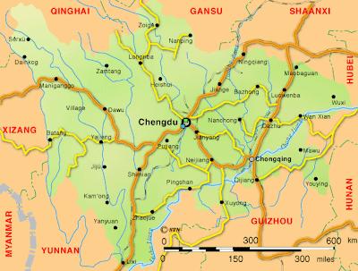 Mappa Sichuan