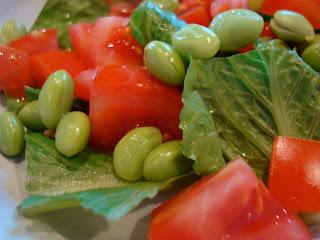 Close up of Edamame Salad