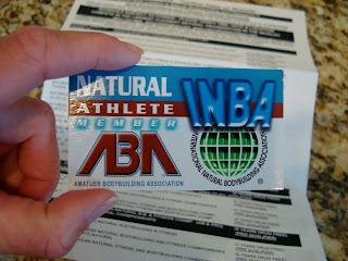 Natural Bodybuilding Organization Membership Card