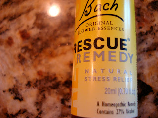 Up close of bottle of Bach Flower Rescue Remedy