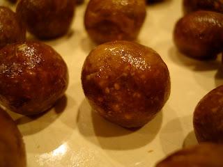 Vegan Peanut Butter Vanilla Balls on white plate