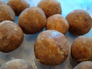 Frozen Vegan Peanut Butter Vanilla Balls in container