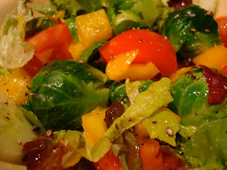 Close up of salad with vegetables