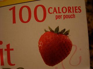 100 Calories per pouch on box