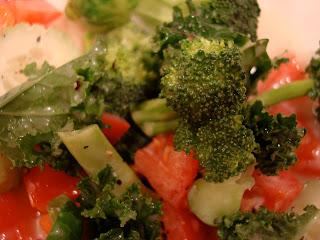 Close up of salad with Vegan Slaw Dressing