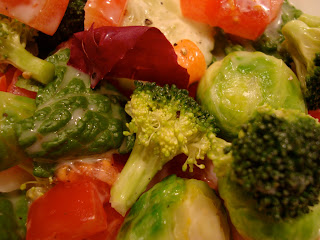Mixed Vegetable Salad with Vegan Slaw Dressing