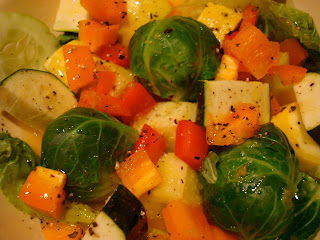 Salad with vegetables dressed with Holiday Orange Spice Vinaigrette