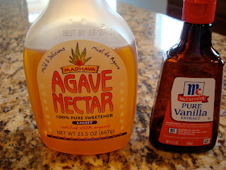 Bottles of Agave and Vanilla Extract