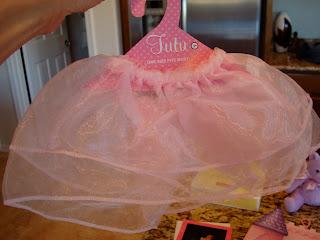 Pink tutu on hanger