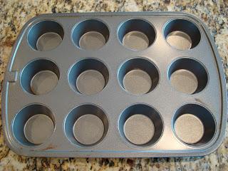Empty muffin tin