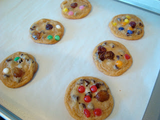Decorate cookies on parchment lined baking sheet