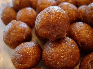 Stacked No Bake Vegan Rum Cake Balls