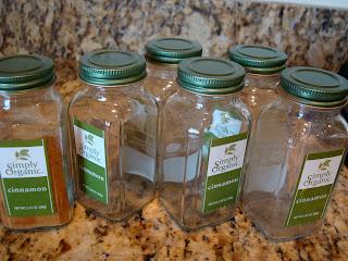 Empty spice jars