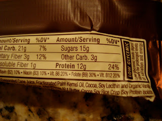 Cookie Dough Luna Prtoein Bar nutritional information
