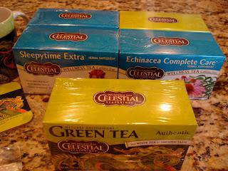 Boxes of various Celestial Tea