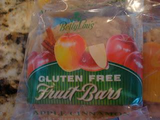Package of Gluten Free Fruit Bars