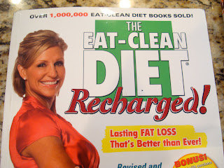 Close up of the Eat-Clean Diet Recharged book