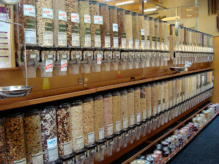 Bulk bins at the grocery store