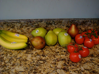 Bananas, Pears and Vine-Ripened Tomatoes