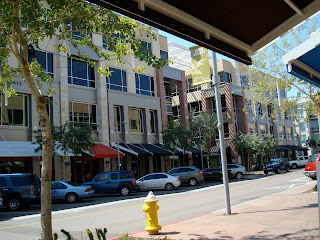 Street view from coffee shop