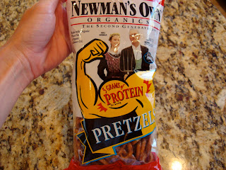 Bag of Newman's Own Protein Pretzels