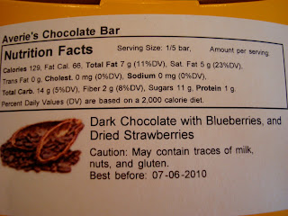Label on back of bar