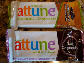 Two Attune Foods Probiotic Chocolate Bars