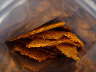 Inside Flaxseed Cracker Package