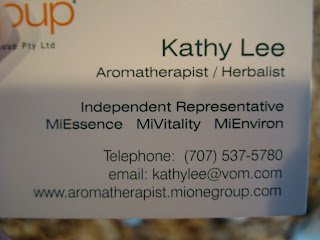 Business Card for a Miessence dealer