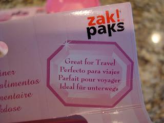 Hand holding box of Zak paks