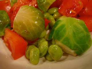 Close up of Edamame Salad