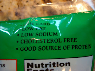 Nutritional info on Edamame package