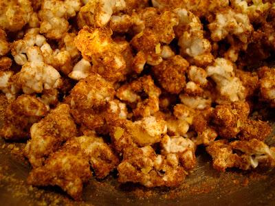 Peanut Butter Coconut Oil Popcorn close up