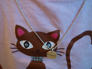 Skylar necklace worn around neck
