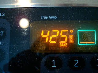 Oven preheated to 425 degrees F