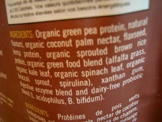 Ingredients in Vega's Shake & Go