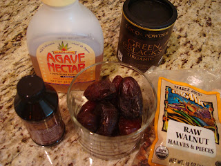Ingredients to make vegan brownies