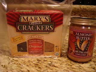 Mary's Gone Crackers and Almond Butter Packages